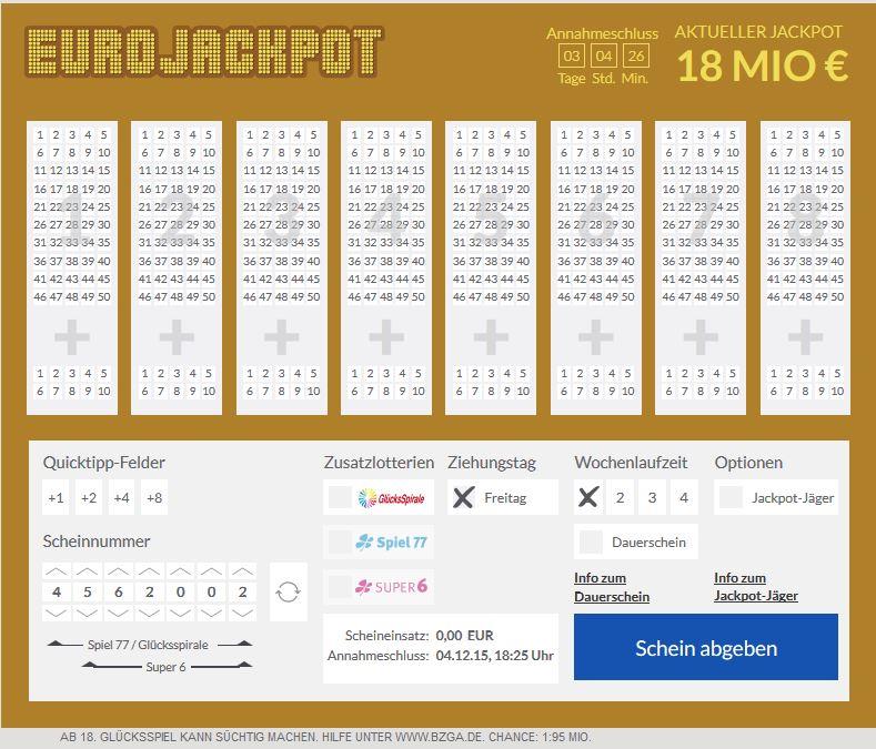 Zufallszahlen Eurojackpot