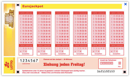 Eurojackpot Spielschein offlineausgabe