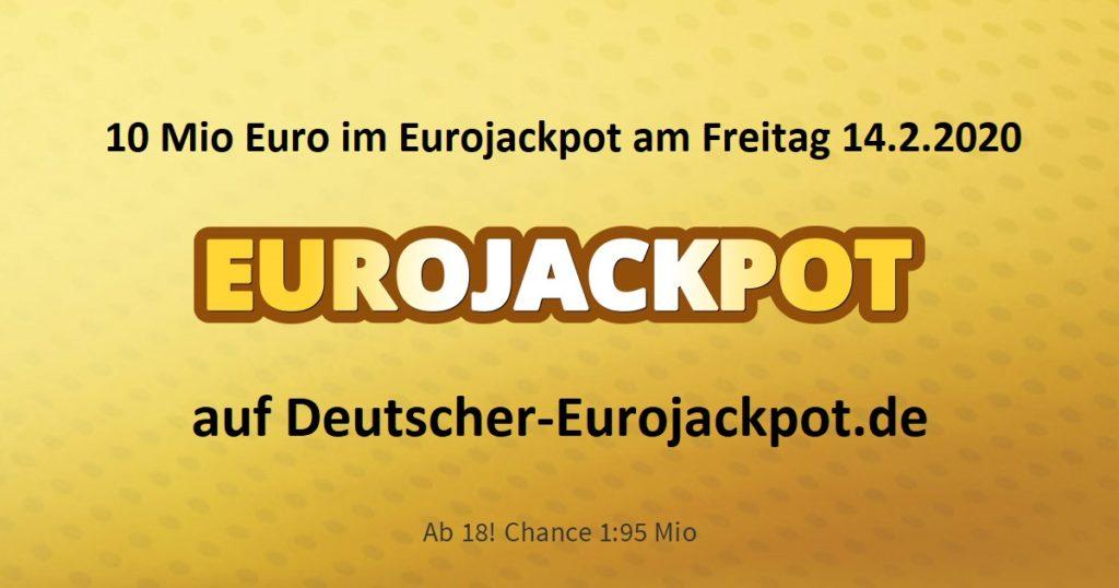 Eurojackpot Zahlen 17.4 20