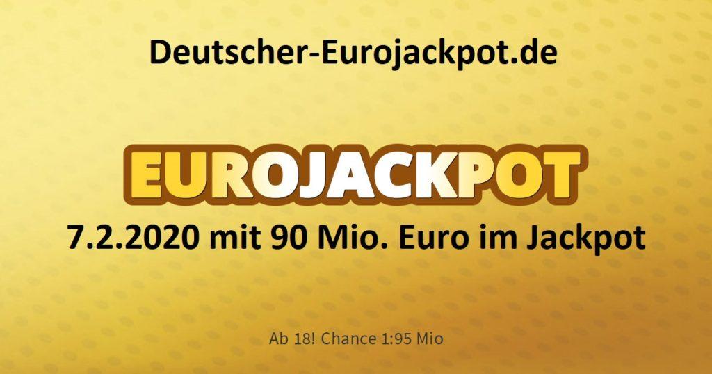 Eurojackpot 7.2.2020